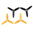 3-Leaf Blades Rotor Props CW+CCW for Parrot Drone 3.0 - Black (2Pairs)