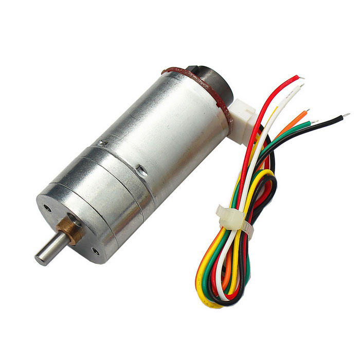High Torque 25mm DC 6.0V 210rpm Encoder Precision Gear MotorDIY Parts &amp; Components<br>Quantity1 DX.PCM.Model.AttributeModel.UnitForm  ColorSilverMaterialABS+ Cu + Fe + steelChipsetDC driveEnglish Manual / SpecNoCertificationNOPacking List1 x Gear motor1 x Terminal connection cable (length 20cm)<br>