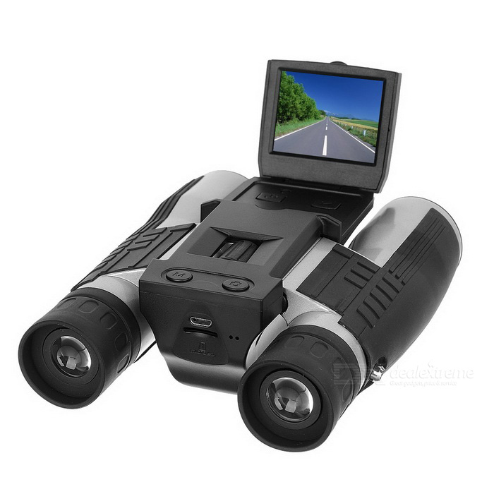 FS608R 2 TFT 12X 1080P 5MP Video Photo Recorder Camera BinocularDigital Cameras<br>Form  ColorBlack + SilverModelFS608RShade Of ColorBlackMaterialABSQuantity1 DX.PCM.Model.AttributeModel.UnitImage SensorCMOSImage Sensor Size1/2.7 inchesAnti-ShakeYesFocal Distance8 DX.PCM.Model.AttributeModel.UnitFocusing Range8mmOptical Zoom4XDigital Zoom4XBuilt-in SpeedliteNoEffective Pixels5.0MPPicture FormatsJPEGStill Image Resolution5M-2592x1944, 3M-2048x1536, 2MHD-1920x1080, 1.3M-1280x960, VGA-640x480Video FormatAVIVideo Resolution1080 FHD 1920 x 1080 / 1080P 1440 x 1080 / 720P 1280 x 720 / WVGA 848 x 480 / VGA 640 x 480 / QVGA 320 x 240Video Frame Rate30,60ISOOthers,Auto, 100, 200, 400Exposure CompensationOthers,+2.0, +5/3, +4/3, +1.0, +2/3, +1/3, +0.0, -1/3, -2/3, -1.0, -4/3, -5/3, -2.0White Balance ModeAutoSupports Card TypeTFMax. Capacity16GBBuilt-in Memory / RAMNoInput InterfaceOthers,Micro USBOutput InterfaceMicro USBScreen TypeTFTScreen Size2.0 DX.PCM.Model.AttributeModel.UnitScreen Resolution1080PBattery Measured Capacity 750 DX.PCM.Model.AttributeModel.UnitNominal Capacity750 DX.PCM.Model.AttributeModel.UnitBattery TypeLi-polymer batteryBattery Charging TimeAbout 3 hoursVoltage5 DX.PCM.Model.AttributeModel.UnitBattery included or notNoWaterproofNoSupported LanguagesEnglish,Simplified Chinese,Traditional Chinese,Russian,Spanish,Italian,Korean,French,German,Others,JapanesePacking List1 x Digital camera1 x Micro USB charging cable (100cm)1 x Cleaning cloth1 x Chinese &amp; English user manual<br>