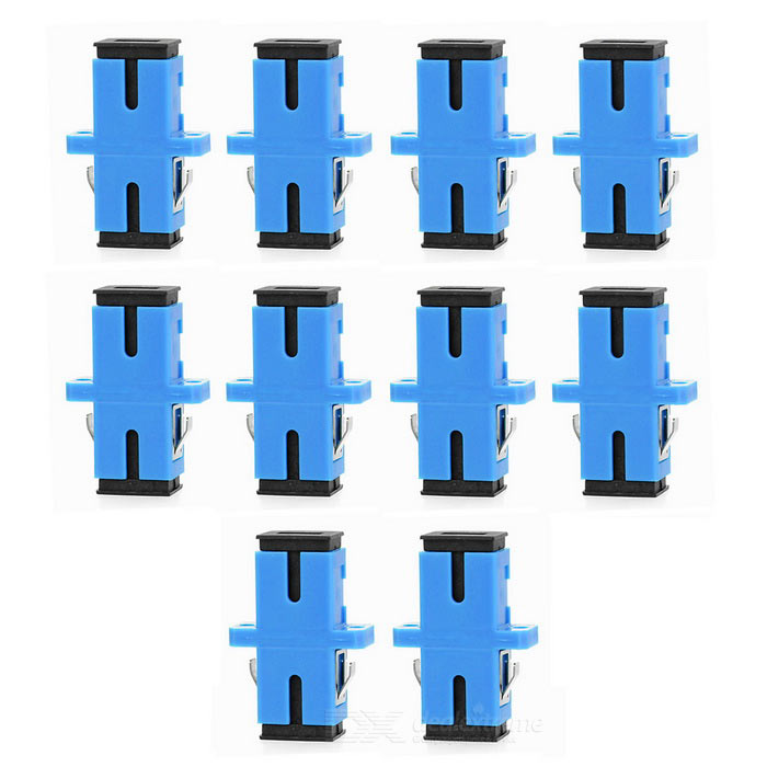 SC to SC Fiber Optic Adapter Connector - Blue (10PCS)Other Network Gadgets<br>Form  ColorBlueQuantity10 DX.PCM.Model.AttributeModel.UnitMaterialABSPacking List10 x Adapters<br>