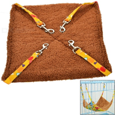Small Soft Canvas Pet Hammock for Cat - Yellow + Multicolored