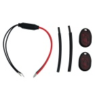 Anti-Theft Dynamic Password Car Safety Electronic Lock - Black + Red