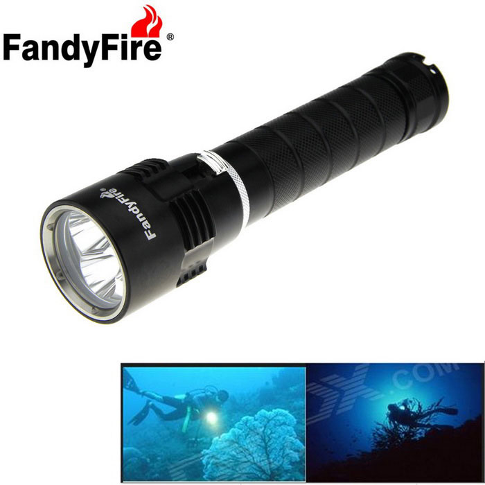 FandyFire XM-L2 U2 4000lm LED Diving Flashlight (2*26650)