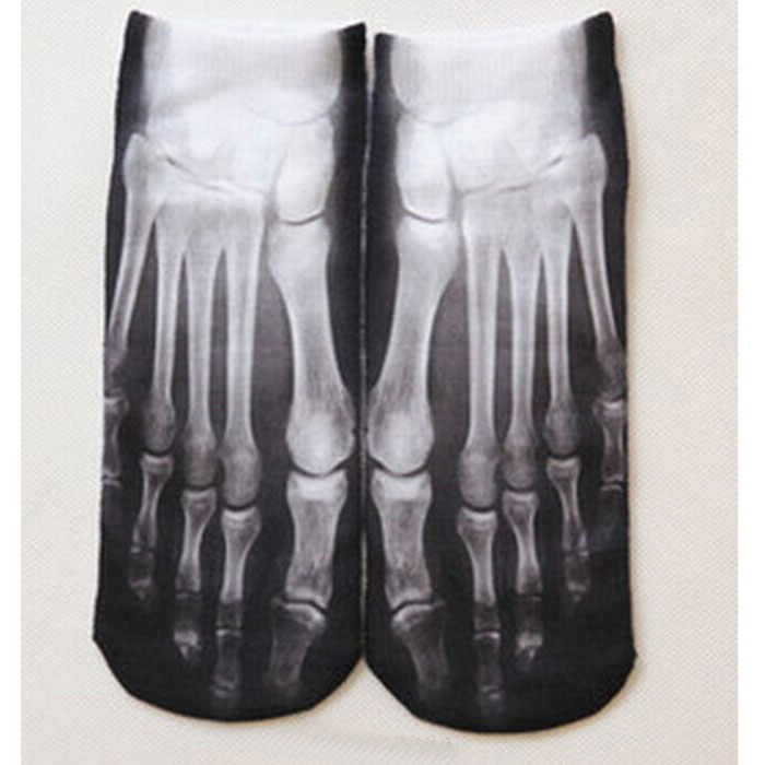 Buy Spoof Fun Socks Cotton Socks Skeleton Claws - Black + White (Pair) with Litecoins with Free Shipping on Gipsybee.com