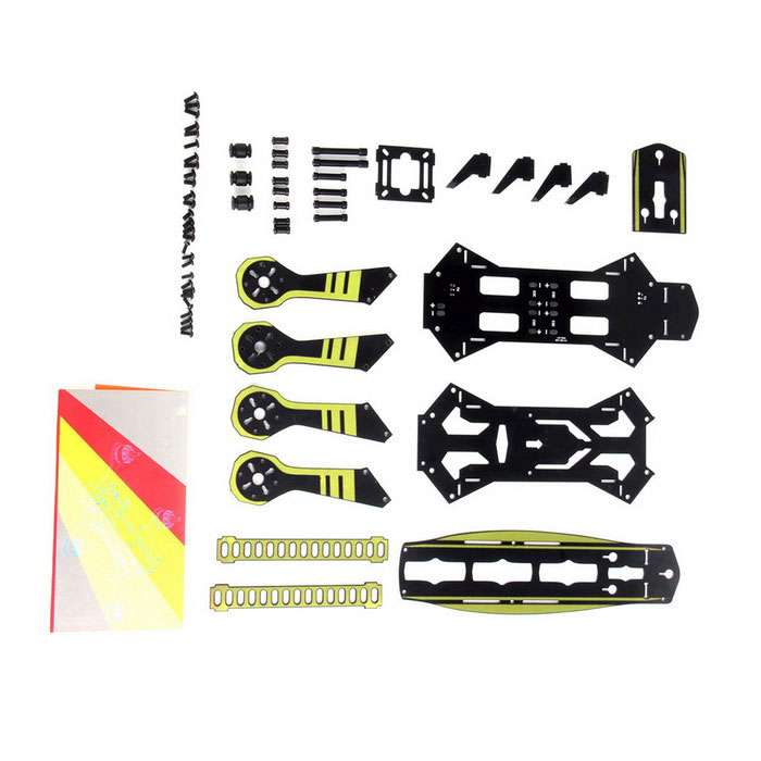 GT-250 250MM Kvadrokoptéra PCB Racing FPV Multirotor Frame Kit - Yellow