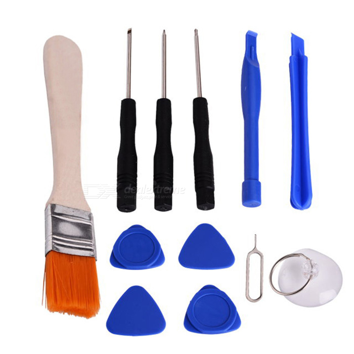 12-in-1 Opening Repair Disassemble Tools Kit for Cellphone - Deep Blue