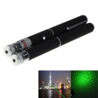 Mini 5mW Starry Green Laser Pointer Flashlight - Black + Silver (2PCS)