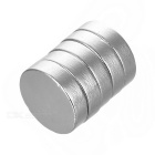 25*4mm Round Strong NdFeB Magnet - Silver (5PCS)