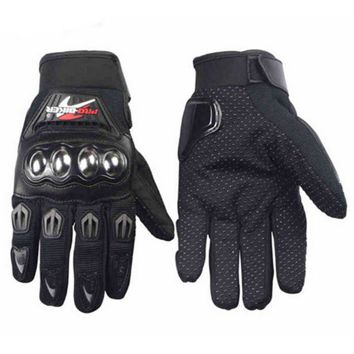 PRO-BIKER Skid-Proof Full Finger Motorcycle Gloves - Black (M / Pair)Motorcycle Gloves<br>Form ColorBlackSizeMModelMCS-29Quantity1 DX.PCM.Model.AttributeModel.UnitMaterialPU leather + nylon and polyester + Stainless steelShade Of ColorBlackTypeOthers,GlovesWaterproofYesHand Around18-19 DX.PCM.Model.AttributeModel.UnitPalm Width8.5 DX.PCM.Model.AttributeModel.UnitWristadjustablePacking List1 x Pair of gloves<br>