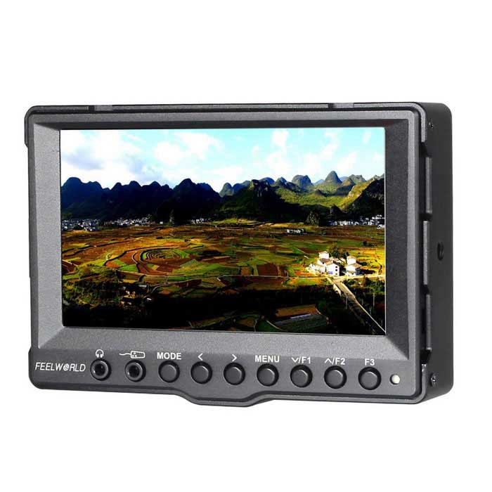 "5"" Aluminum Case On-Camera Field Monitor w/ 3G-SDI&HDMI Input - Black"