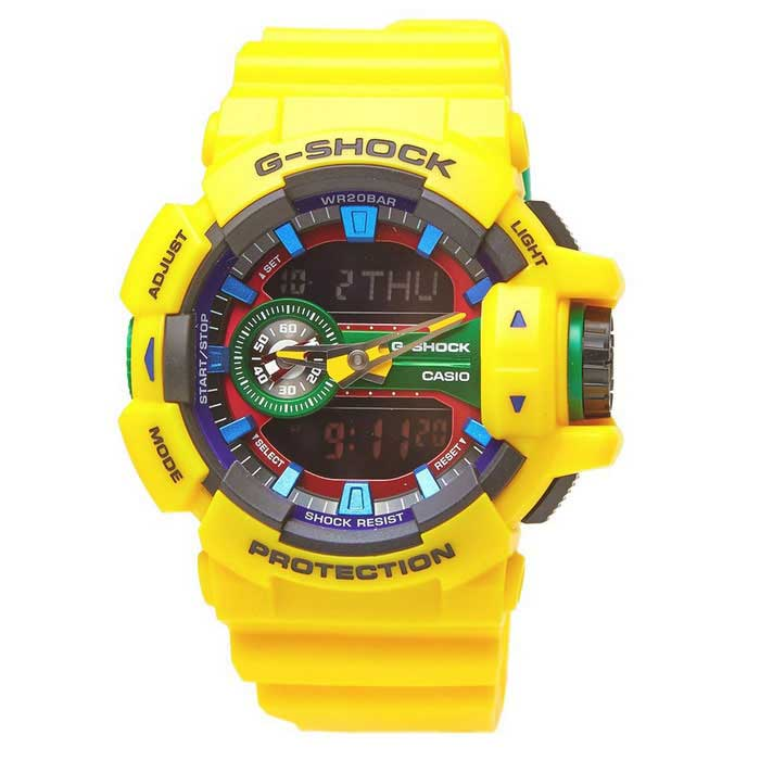 echte Casio G-Shock STANDARD Analog-Digital ( GA- 400-9AER ) - gelb