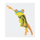 DQW-24 3D Frog Pattern PVC Car Decorative Decal Sticker - Green