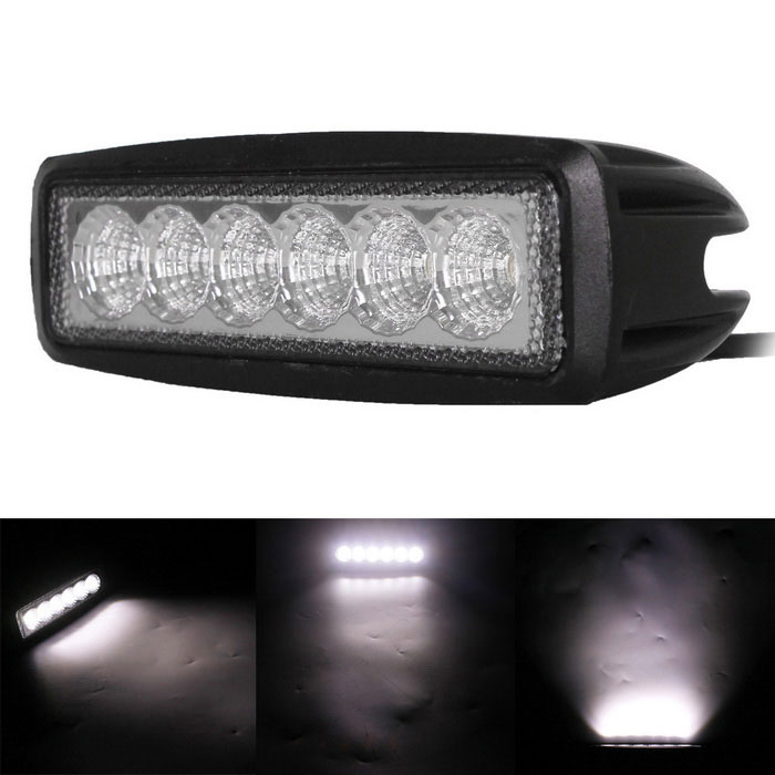 18W 6-LED White Flood Beam Work Light Bar Off-Road Light (10~30V) for sale in Bitcoin, Litecoin, Ethereum, Bitcoin Cash with the best price and Free Shipping on Gipsybee.com