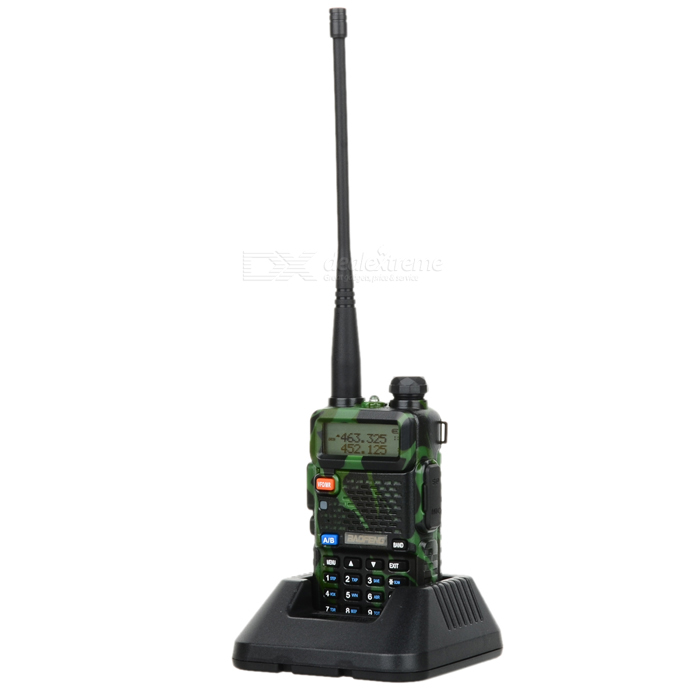 BAOFENG BF-UV5R 1,5kv LCD 5W 128-CH UV Dual-band Walkie Talkie