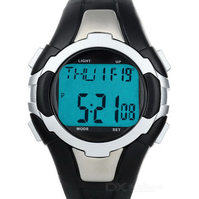 Metal Contact Dynamic Heart Rate R1003 Sports Watch - Black + Silver