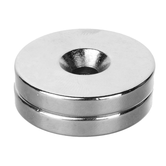 DIY 30*5-5mm Round NdFeB Magnet w/ Hole - Silver (2PCS)
