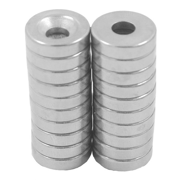 15*4 Hole 5mm Strong Magnet NdFeB - Silver (20PCS)