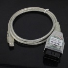 INPA K + DCAN auto diagnostische kabel w / USB voor BMW - wit + transparant