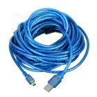 USB2.0 to Mini 5P Data Cable w/ Magnetic Ring - Blue (990cm)