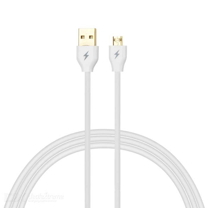 Micro 5pin to USB Quick Charging Data Cable for Phone - White (153cm)
