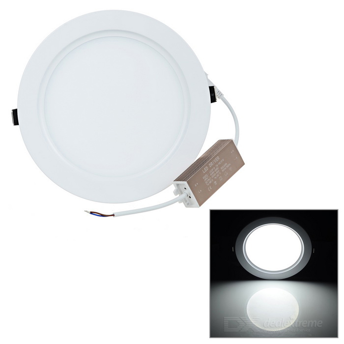 Buy 15W Panel Light White 6000K 1350lm 75-2835 SMD + LED Driver - White with Litecoins with Free Shipping on Gipsybee.com