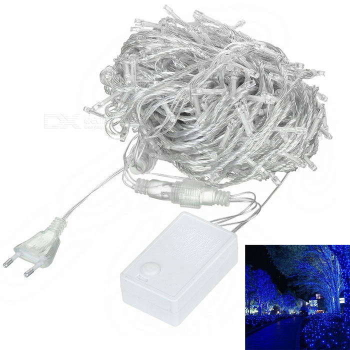 Buy 18W 900lm 490nm Blue 300-LED Christmas String Light - White (30m) with Litecoins with Free Shipping on Gipsybee.com