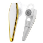 Snyggt Bluetooth V4.0 In-Ear Headset w / Mic - Vit + Guld