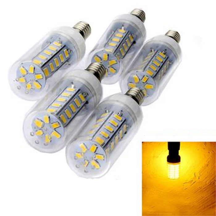 Buy E14 4W 36-LED 900lm Warm White 5730 SMD Corn Light Bulb (5PCS) with Litecoins with Free Shipping on Gipsybee.com