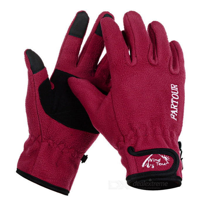 Wind Tour Anti-Slip Warm Touch Screen Full Finger Gloves -  (XL)
