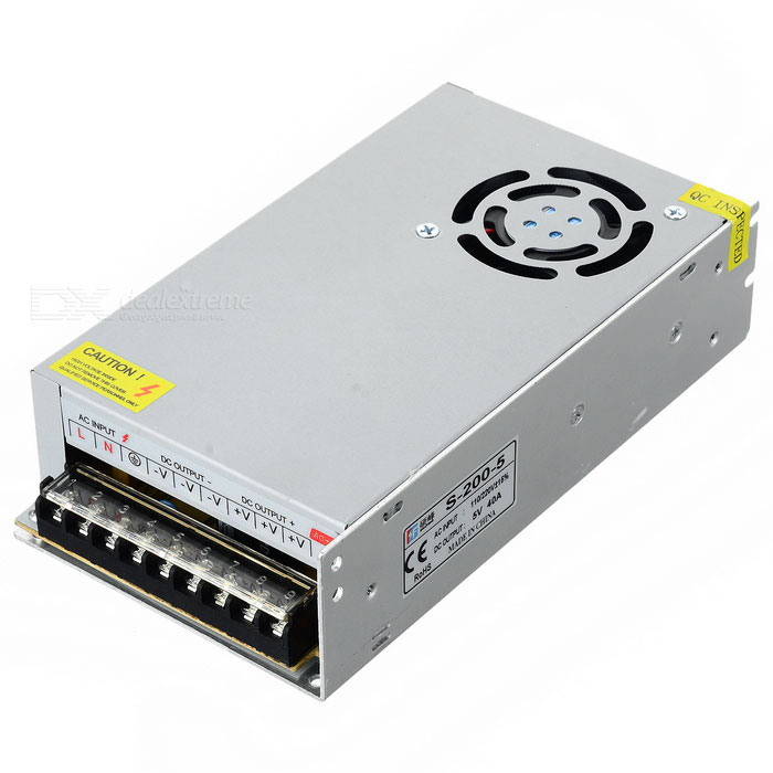 Shuofeng 200W 5V 40A Switching Power Supply for CCTV Cam (110~240V)
