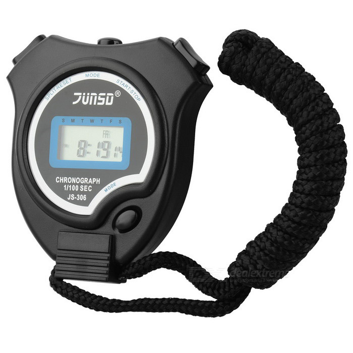 Buy Chronograph Digital Sports Stopwatch (Black) with Litecoins with Free Shipping on Gipsybee.com