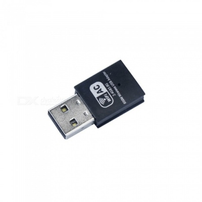 UNT-W01 AC600 Wireless Dual Frequency USB Network Adapter Card - Black