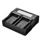 "LP-E6 Dual Battery Charging Dock w / 3.1 ""LCD-scherm - Black (US Plugss)"