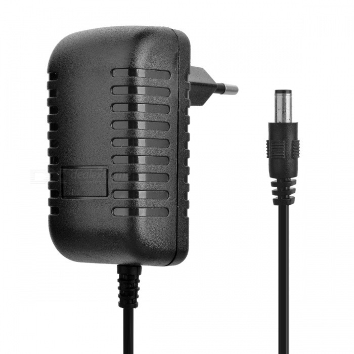 Buy 12V 1A Power Supply Adapter for LED Light/IP Camera - Black (EU Plug) with Litecoins with Free Shipping on Gipsybee.com