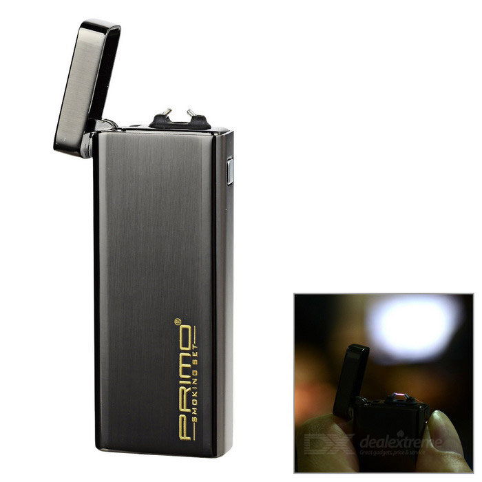 PRIMO USB Rechargeable Windproof Arc Electronic Lighter - Black
