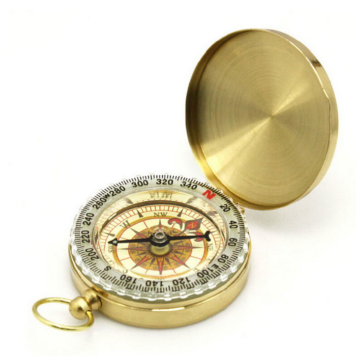 High-grade Copper Compass w/ Luminous Watch - GoldenCompasses<br>Form ColorGoldenQuantity1 DX.PCM.Model.AttributeModel.UnitMaterialacrylic, copperAnalog or DigitalAnalogRulerNoPacking List1 x Compass<br>