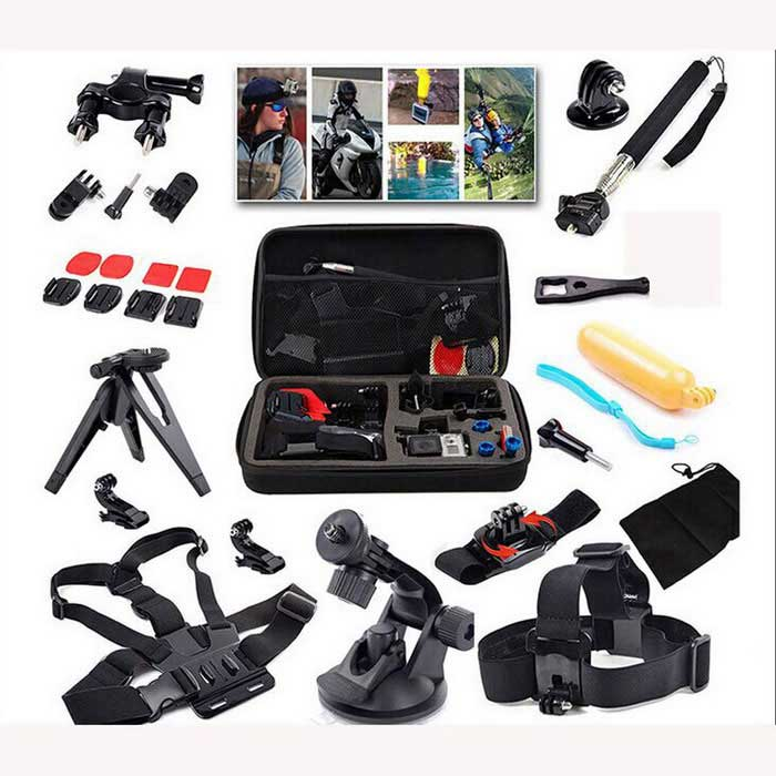 14-en-1 Kit de base communs Sports de plein air pour tous Gopro Hero4