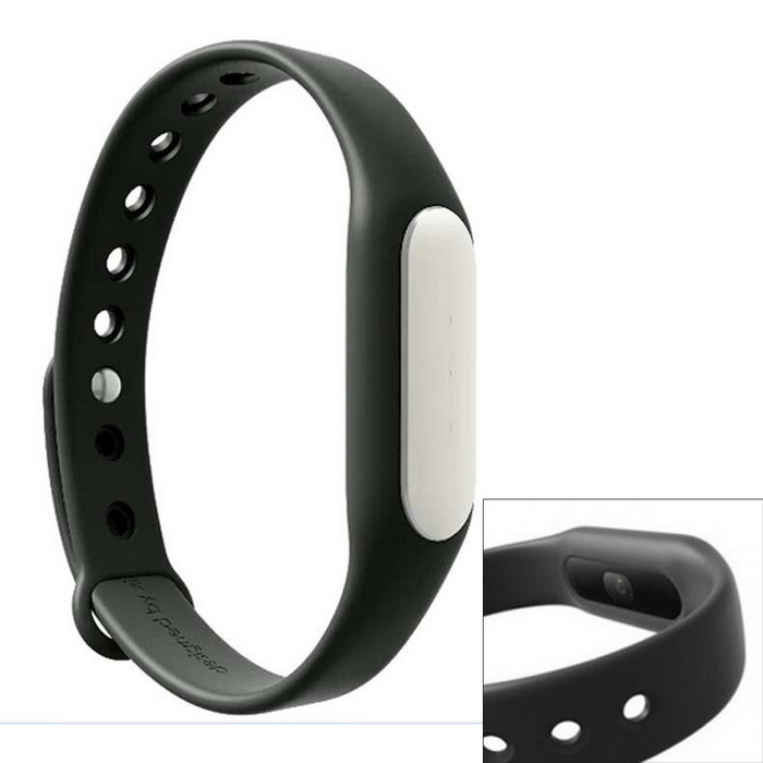 Xiaomi MiBand 1S Light-sensitive Heart Rate Smart Bracelet - BLACK