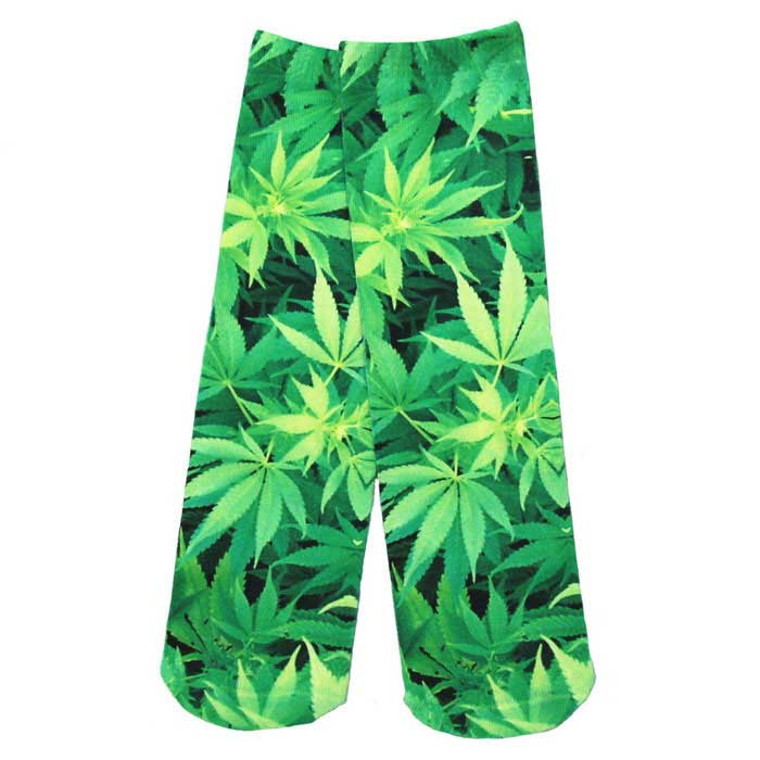 Buy Creative Spoof Fun Leaves Printing Cotton Socks - Green (Pair) with Litecoins with Free Shipping on Gipsybee.com