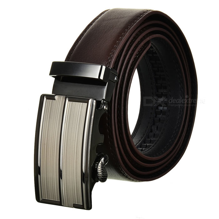 Mens Fashionable Leather Belt w/ Automatic Buckle - Brown (120cm)Belts and Buckles<br>Form  ColorBrownQuantity1 DX.PCM.Model.AttributeModel.UnitShade Of ColorBrownMaterialCow split leatherGenderMenSuitable forAdultsBelt Length120 DX.PCM.Model.AttributeModel.UnitBelt Width3.5 DX.PCM.Model.AttributeModel.UnitPacking List1 x Belt<br>