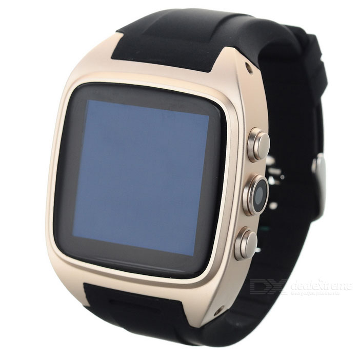Waterproof BT Android 4.2 Smart 1.6quot Watch Phone w/ GPS- Champagne