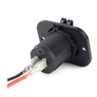 IZTOSS C8332B-60L-Z Water Resistant Motorcycle 2-USB Charger - Black