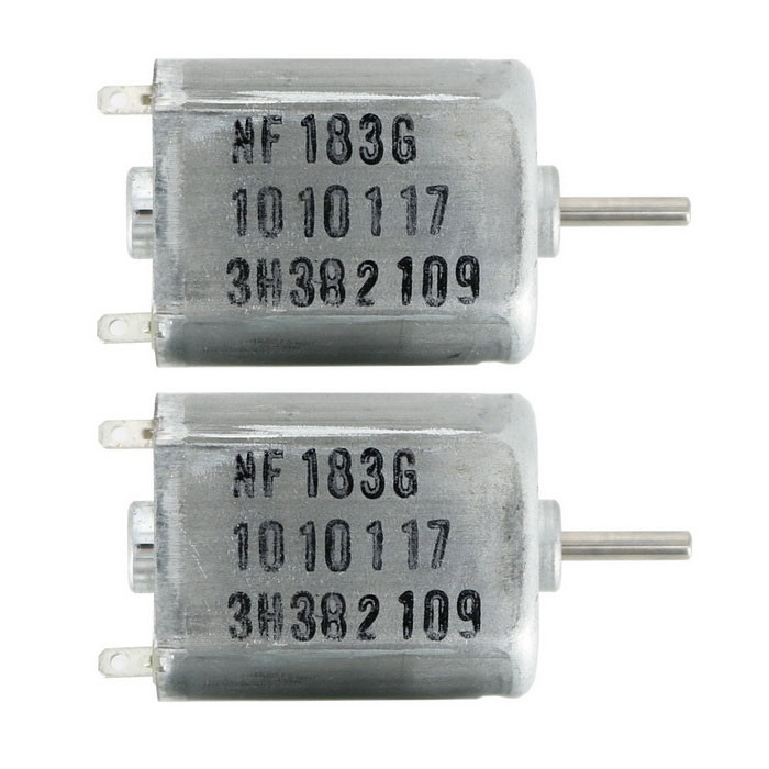 DC 6V-24V High-speed Micro Motor 130-type Shaft Diameter 2mm (2PCS)Motors<br>Form  ColorSilver + Silver GreyModelN/AQuantity1 DX.PCM.Model.AttributeModel.UnitMaterialAlloyRate Voltage12Input Voltage6-24 DX.PCM.Model.AttributeModel.UnitEnglish Manual / SpecYesDownload Link   http://pan.baidu.com/s/1bnmeQTpPacking List2 x DC Motor 130<br>