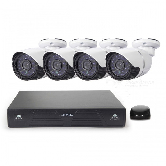 Buy Cotier N4BM/Kit NVR System Mini 4-CH NVR 1.3MP P2P HD IP Camera with Litecoins with Free Shipping on Gipsybee.com
