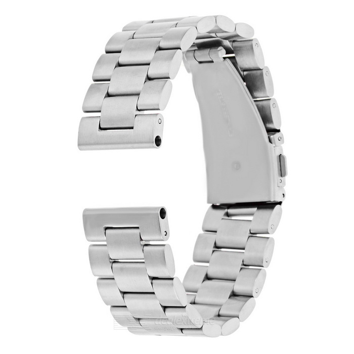 rostfritt stål watch band för Motorola MOTO 360 2 46 mm - silver