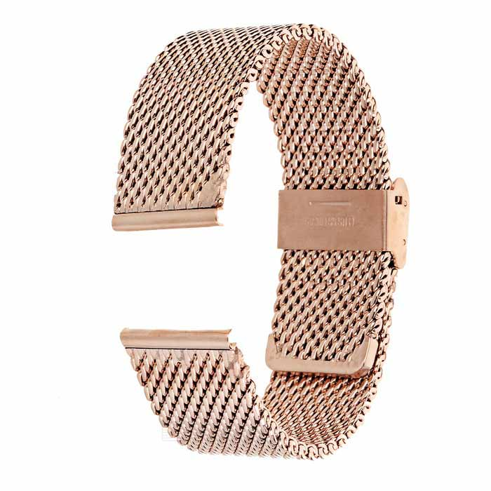 Stainless Steel Watch Band for Motorola MOTO 360 2 46mm - Rose Gold