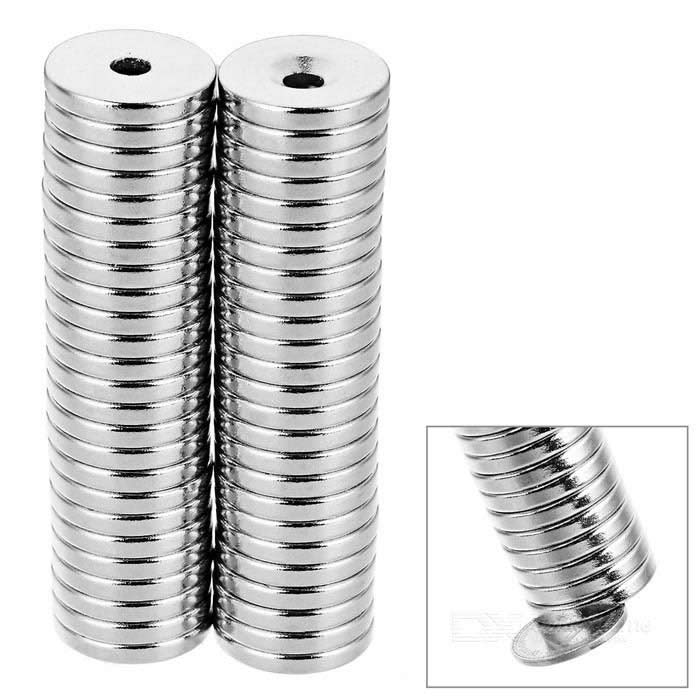 18*3-4mm Round N35 NdFeB Neodymium Magnets Set - Silver