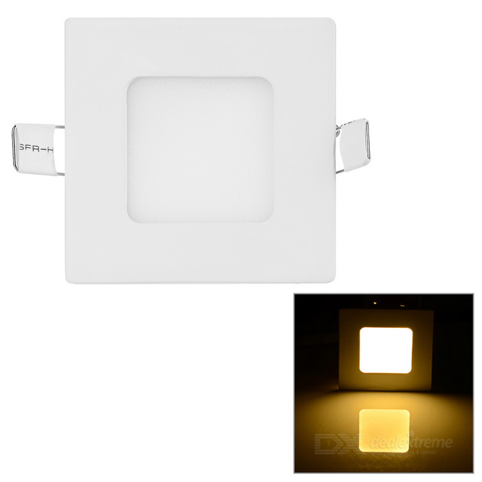 3W Square LED Panel / Ceiling Light Warm White 128lm 15-SMD - WhiteCeiling Light<br>Form  ColorWhiteColor BINWarm WhiteQuantity1 DX.PCM.Model.AttributeModel.UnitMaterialAluminumPower3WRated VoltageAC 85-265 DX.PCM.Model.AttributeModel.UnitChip Type2835 SMD LEDEmitter TypeLEDTotal Emitters15Theoretical Lumens200 DX.PCM.Model.AttributeModel.UnitActual Lumens128 DX.PCM.Model.AttributeModel.UnitColor Temperature3000KDimmableNoBeam Angle180 DX.PCM.Model.AttributeModel.UnitExternal Diameter9 DX.PCM.Model.AttributeModel.UnitHole diameter7.5 DX.PCM.Model.AttributeModel.UnitHeight1.3 DX.PCM.Model.AttributeModel.UnitPacking List1 x Ceiling light<br>