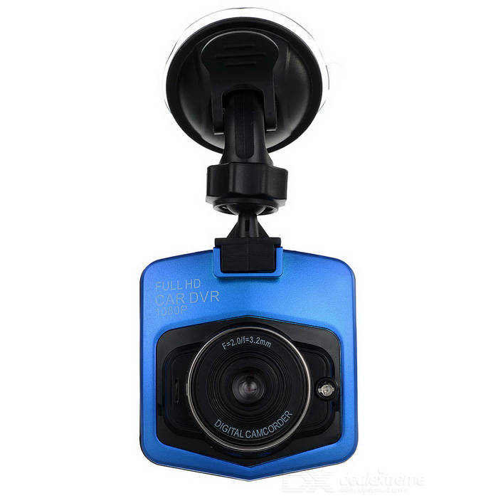 "170' Wide Angle CMOS 2.31"" TFT Car DVR w/ Mic / Loop Record - Blue"