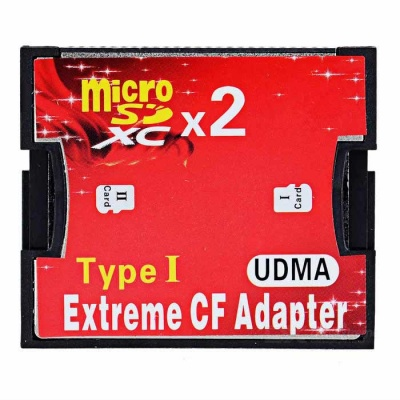 CY EP-093 Dual TF to Type I Flash Card CF Reader Adapter for Nikon